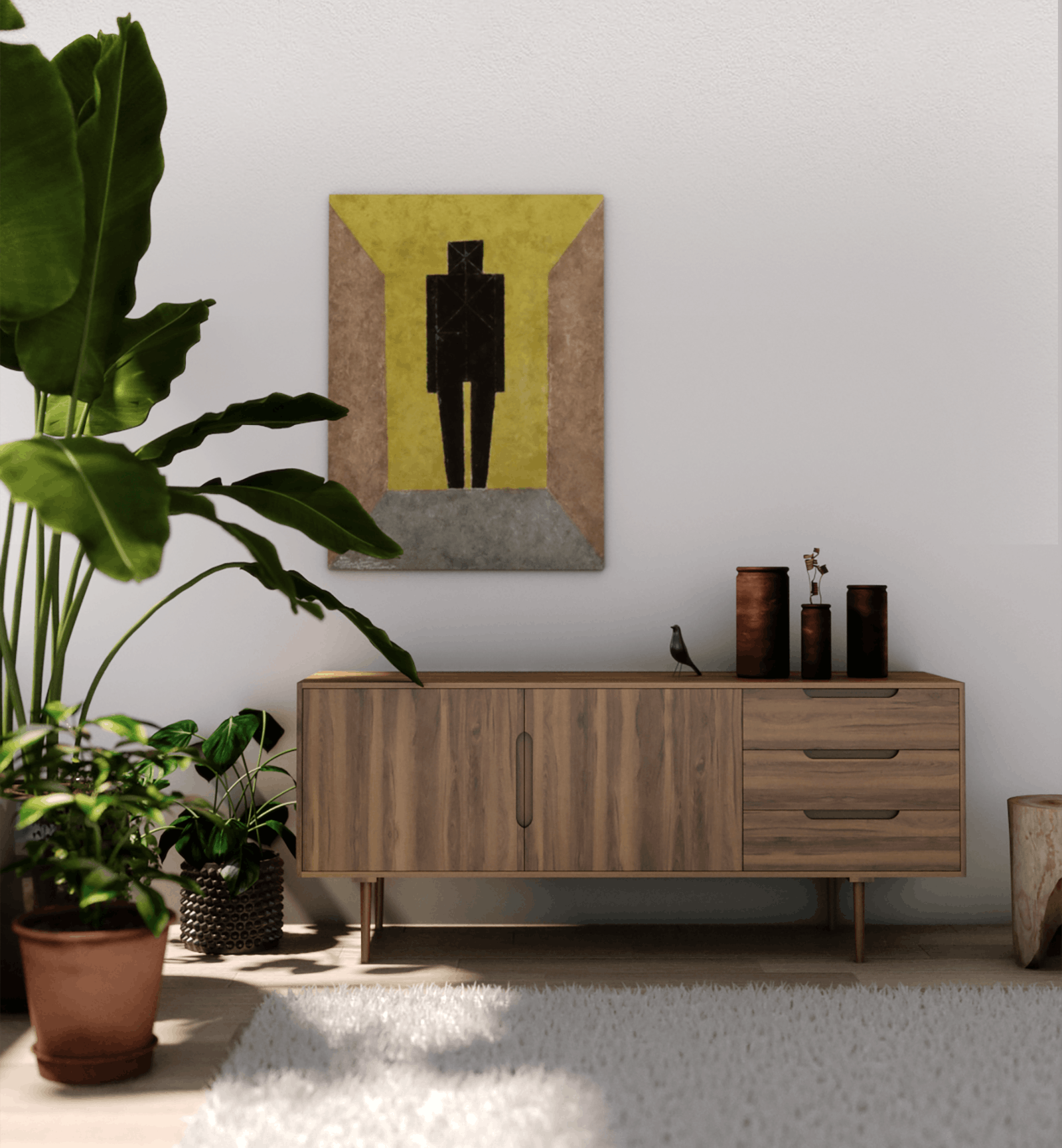 Brown Wooden Sideboard