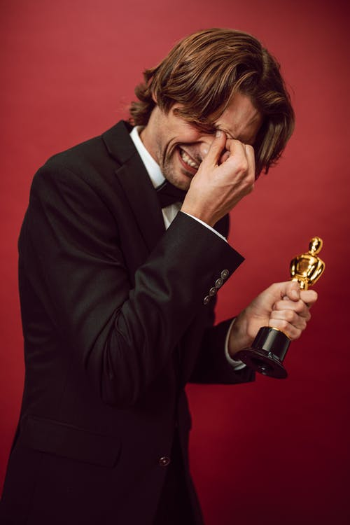 A Man Receiving an Award