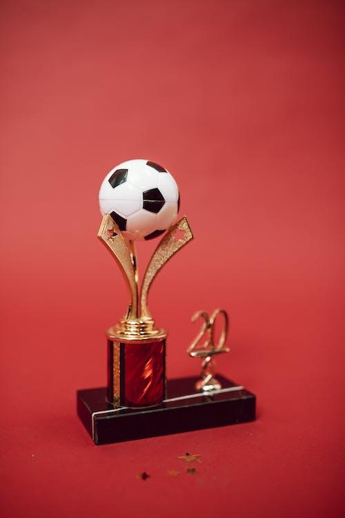Gold Trophy on Black Book