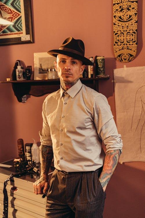 남자, 뚜껑, 레트로의 무료 스톡 사진
