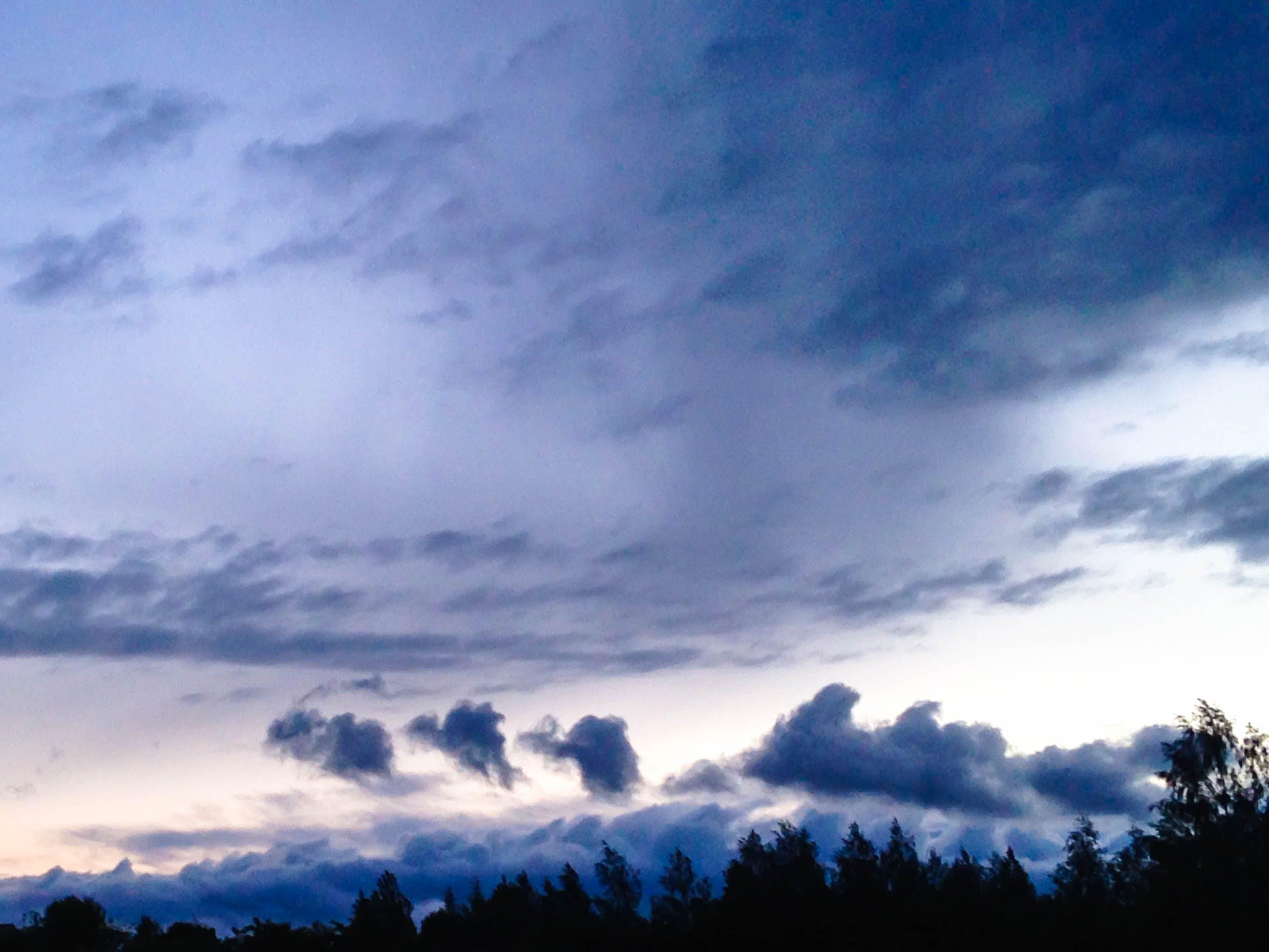 bulutlar, gökyüzü, mavi