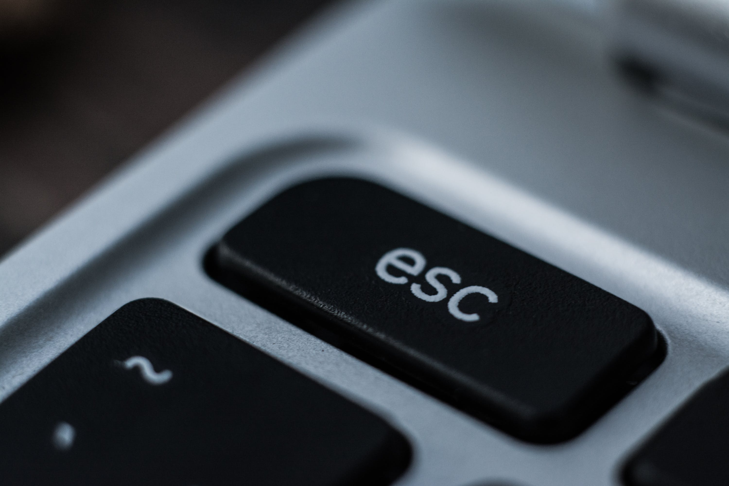 Free stock photo of button, esc, macro, notebook