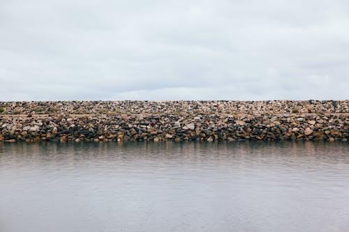 คลังภาพถ่ายฟรี ของ ทะเล, มหาสมุทร, หิน, เขื่อน