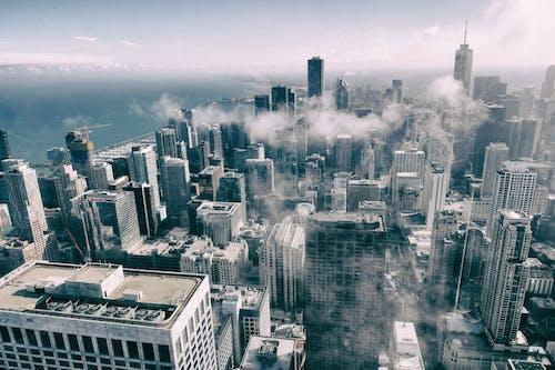 Foto profissional grátis de aéreo, alto, antena, arquitetura