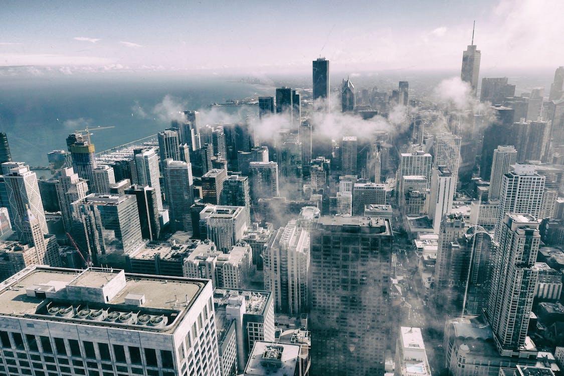 belváros, ég, építészet
