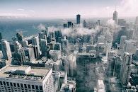 black-and-white, city, landscape