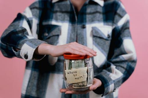 Základová fotografie zdarma na téma koncept, kostkovaná košile, peníze