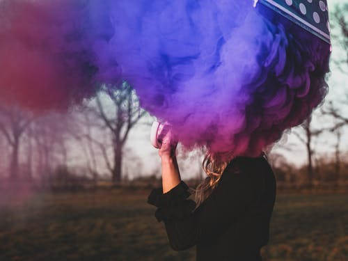 Free stock photo of colored smoke, smoke, umbrella
