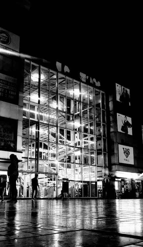 Free stock photo of b amp w, black and white city