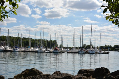 Free stock photo of boats, cloudy, france, lac