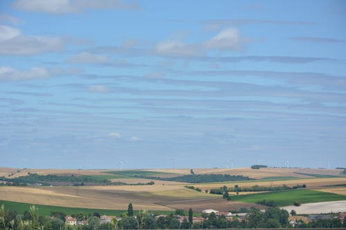 Free stock photo of clouds, fields, france, landscape