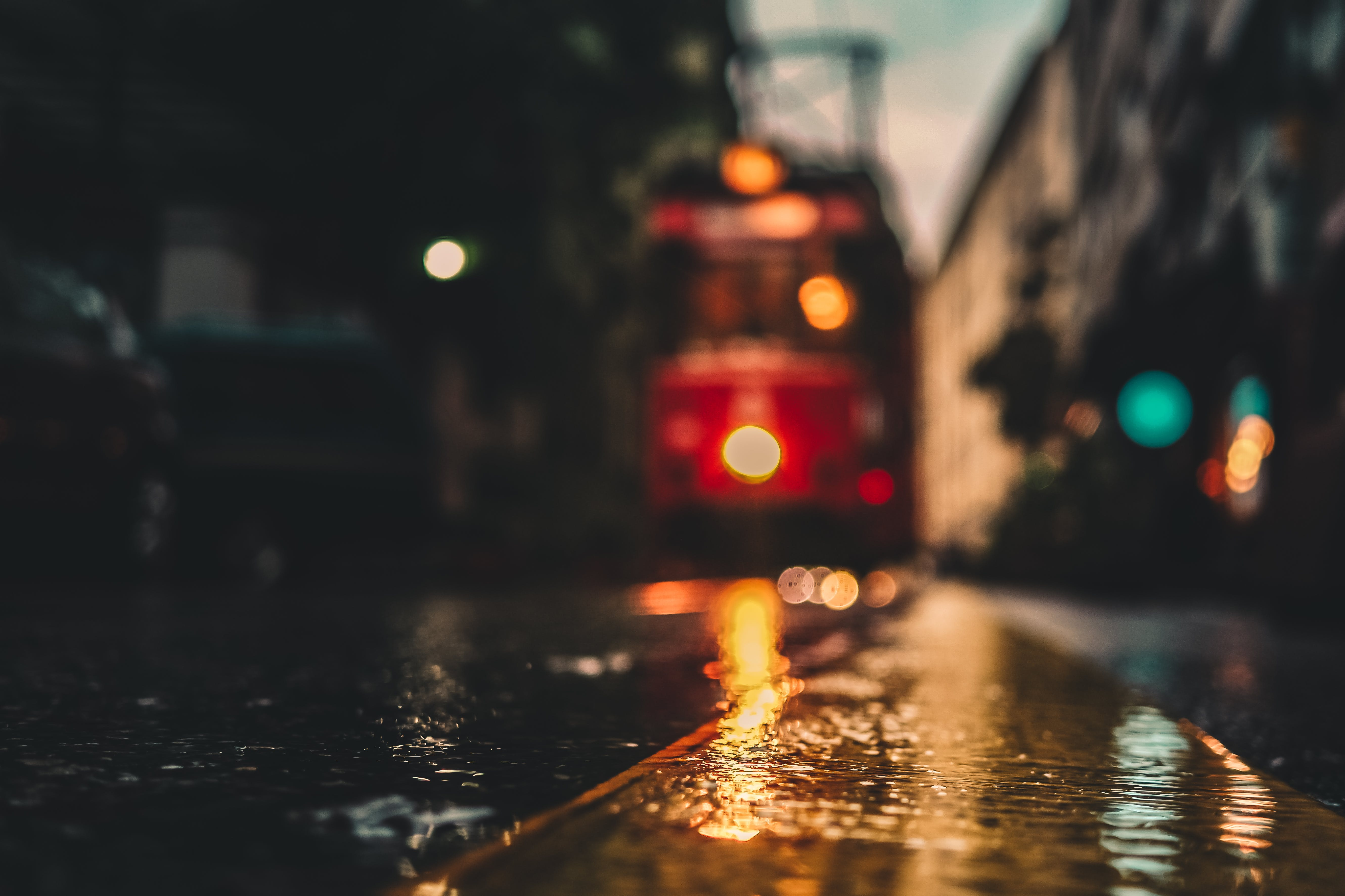 Out of Focus Tram in Bokeh Photography