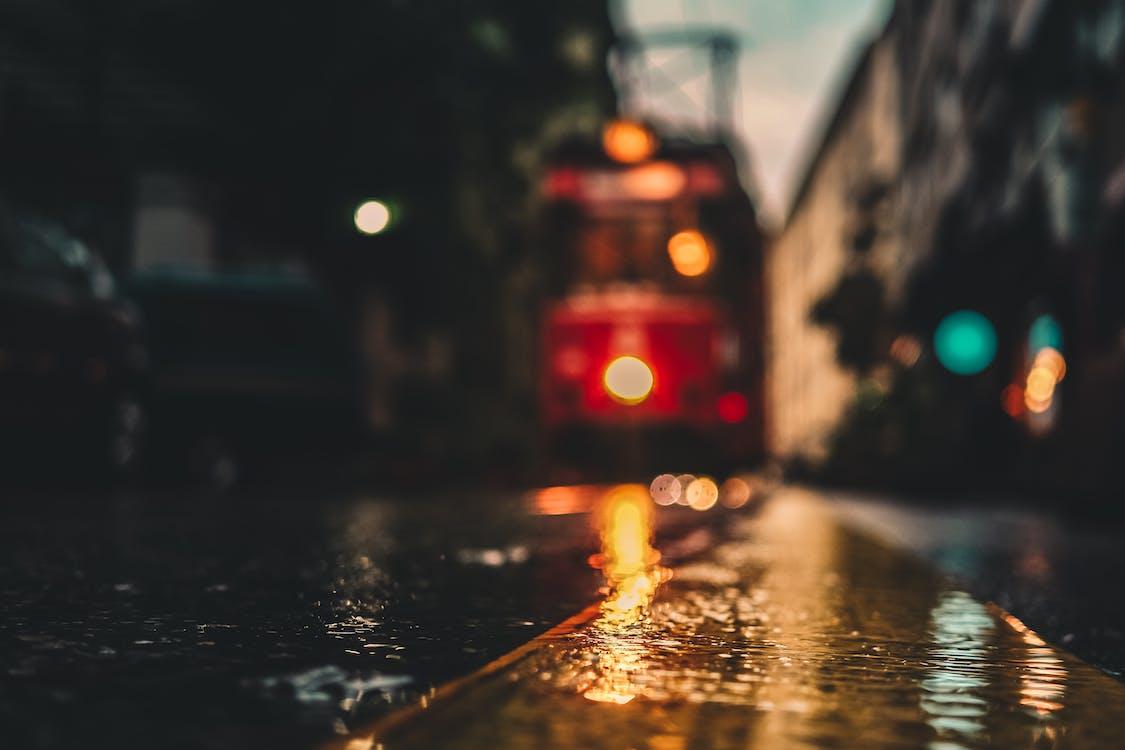 asfalt, blurry, bokeh