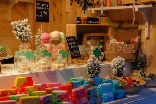 展示, 市場, 聖誕, 聖誕禮物 的 免费素材照片