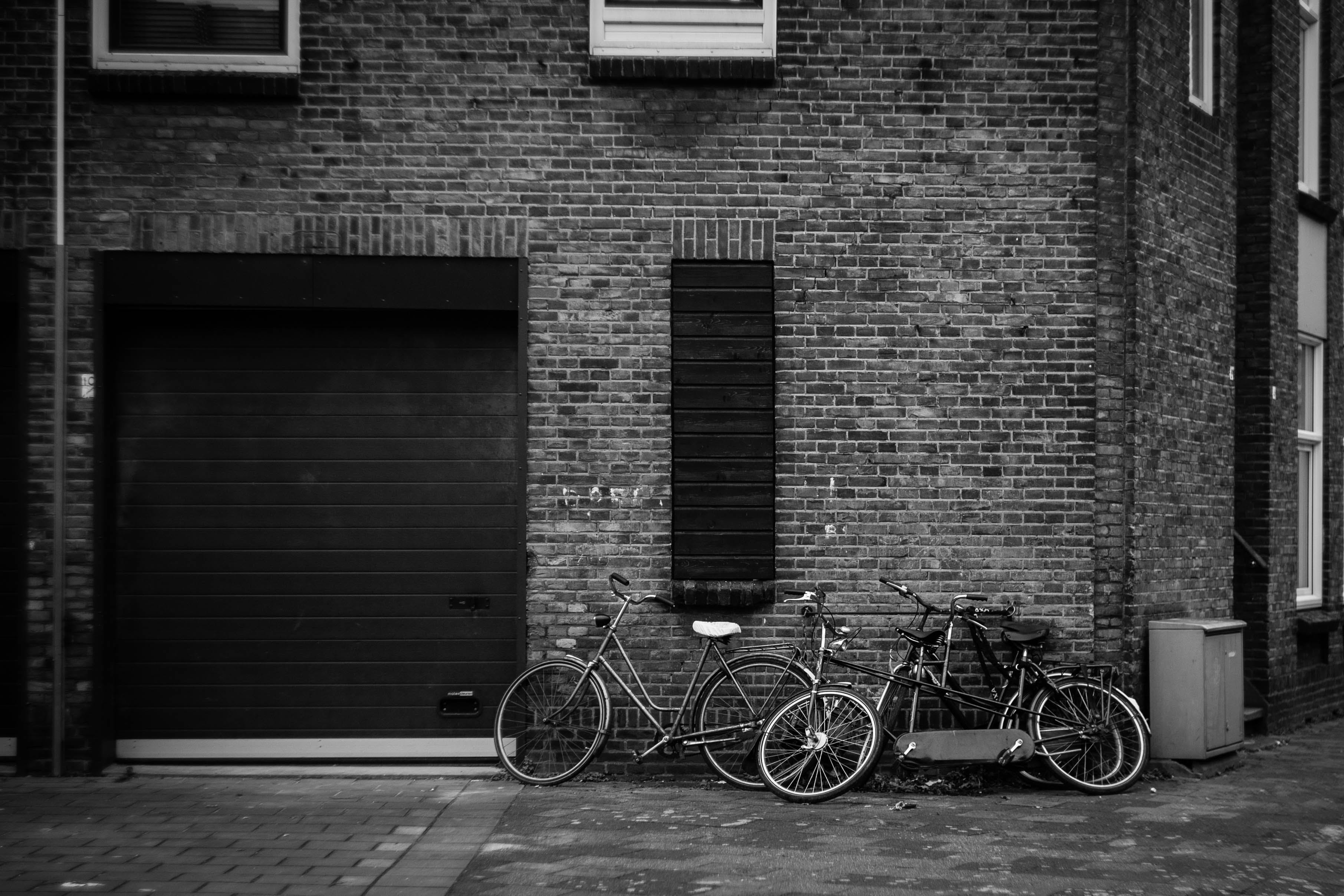 Grayscale Photography Of Bicycles