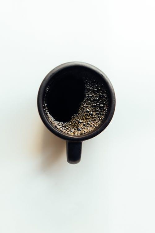Black Ceramic Mug With Black Liquid