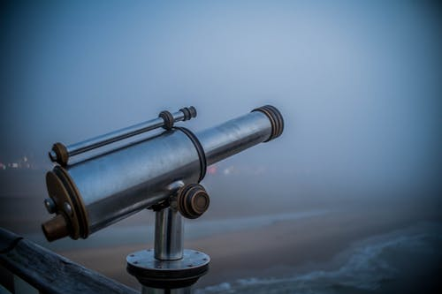 Free stock photo of beach, telescope