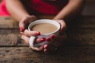 hands, woman, caffeine