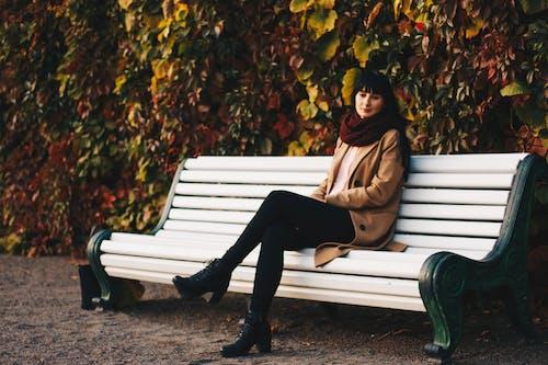 Základová fotografie zdarma na téma holka, krása, krásný, lavička