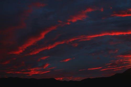 Základová fotografie zdarma na téma obloha, rudá obloha, západ slunce