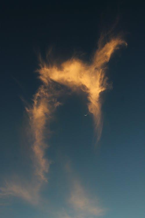 Free stock photo of cloud, moon, skies