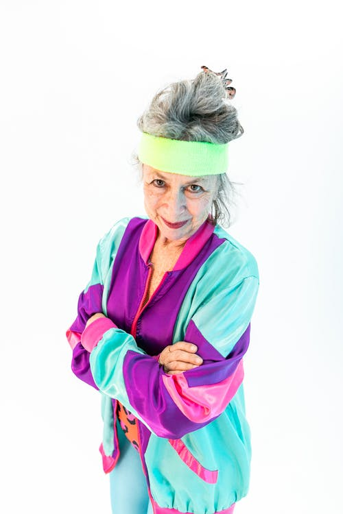 Woman In A Colorful Active Wear