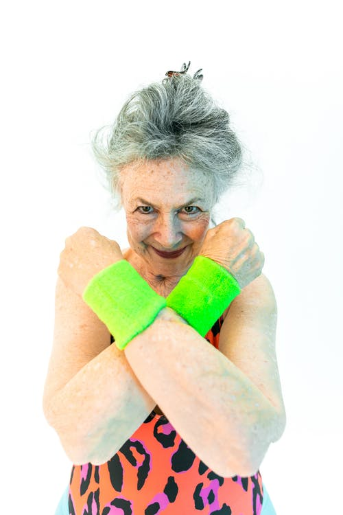 Woman Wearing Green Wristbands