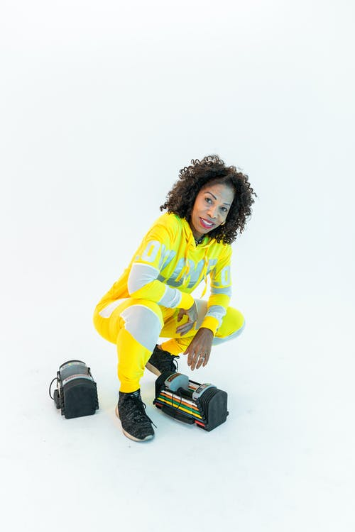 Woman In Yellow Active Wear