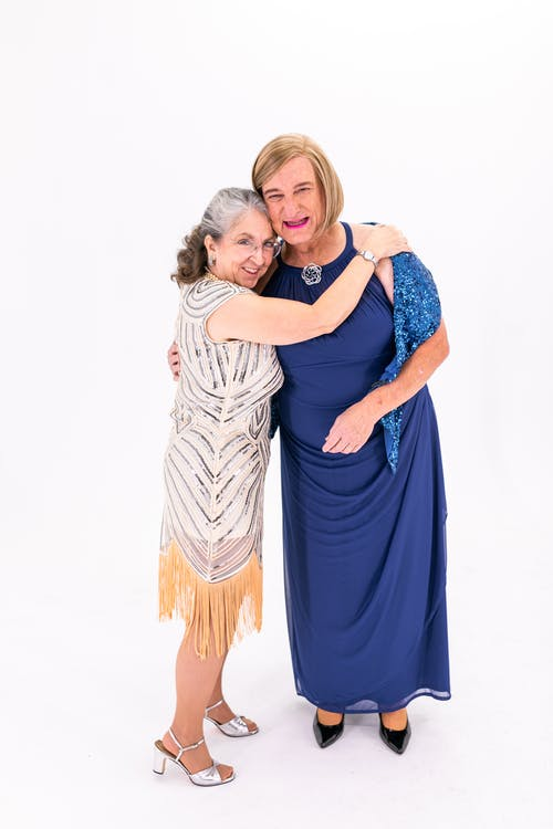 Two Elderly Women Close To Each Other