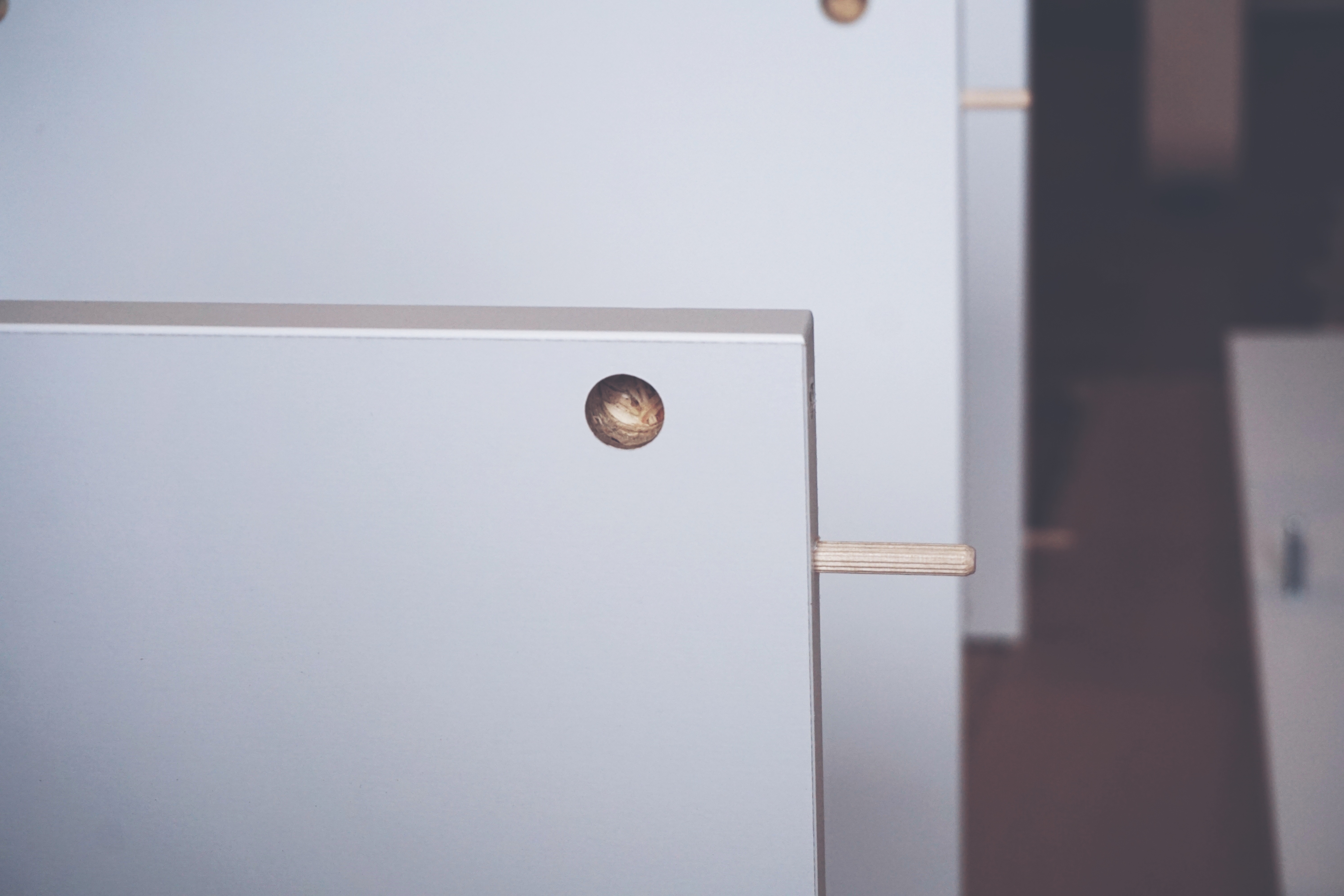 White Cubicles in Close-up Photography
