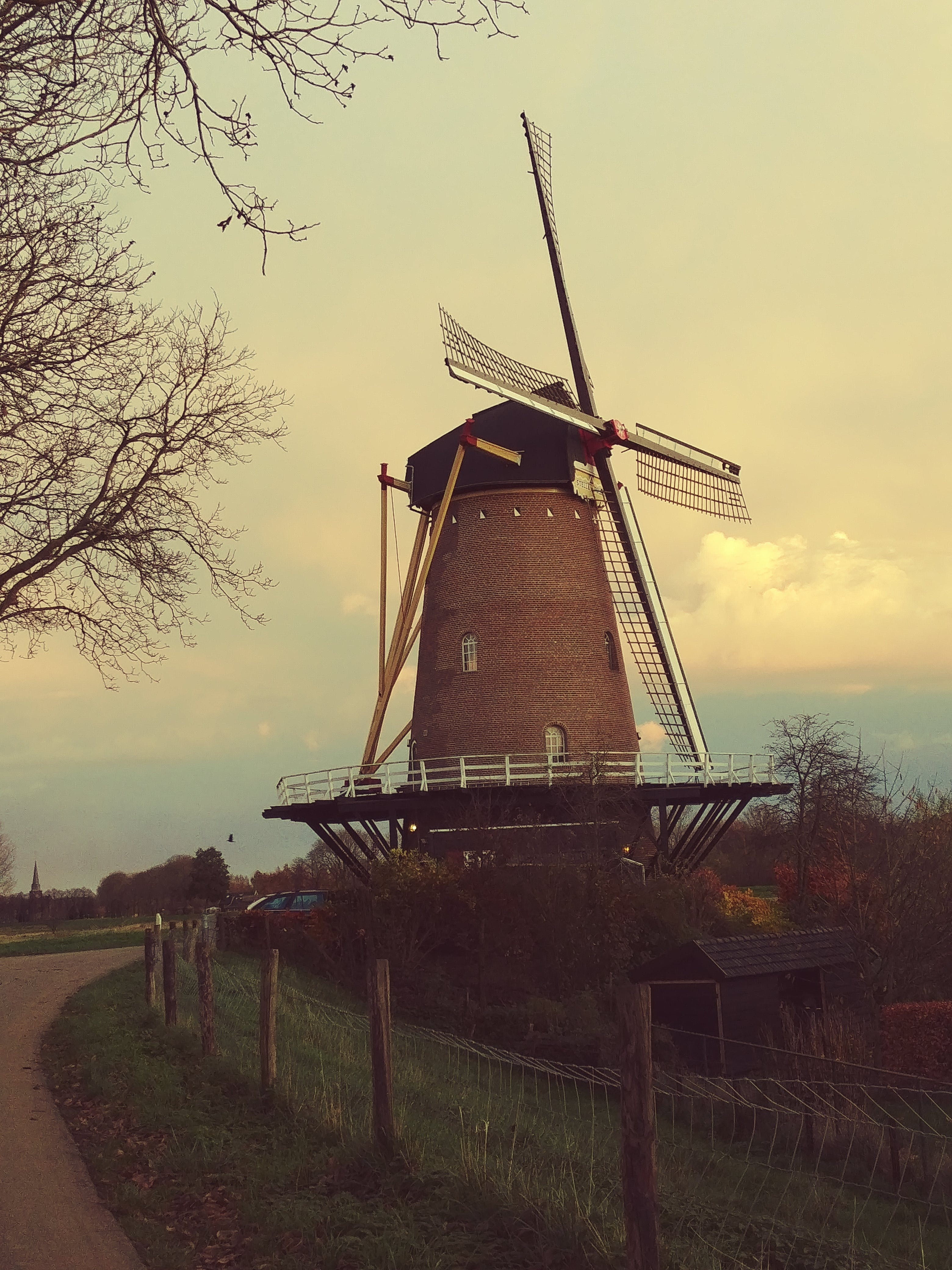 Free stock photo of dutch, mill, old, vintage