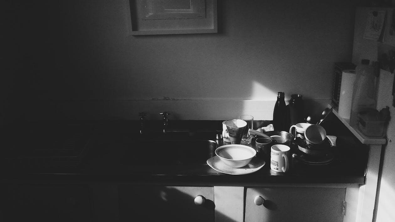 Free stock photo of bottles, cutlery, dish washing
