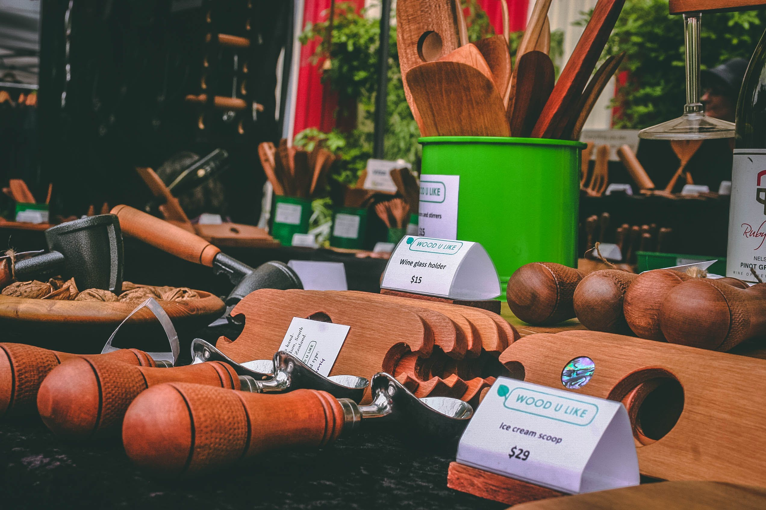 Assorted Brown Wooden Hand Tools