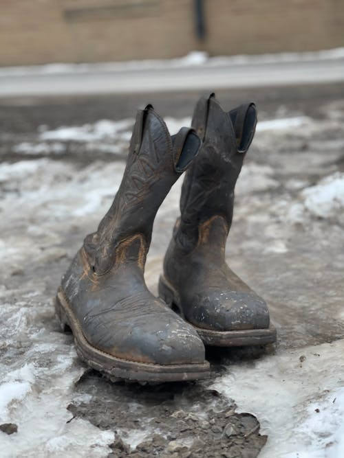 Free stock photo of abandoned, boots, cowboy boots