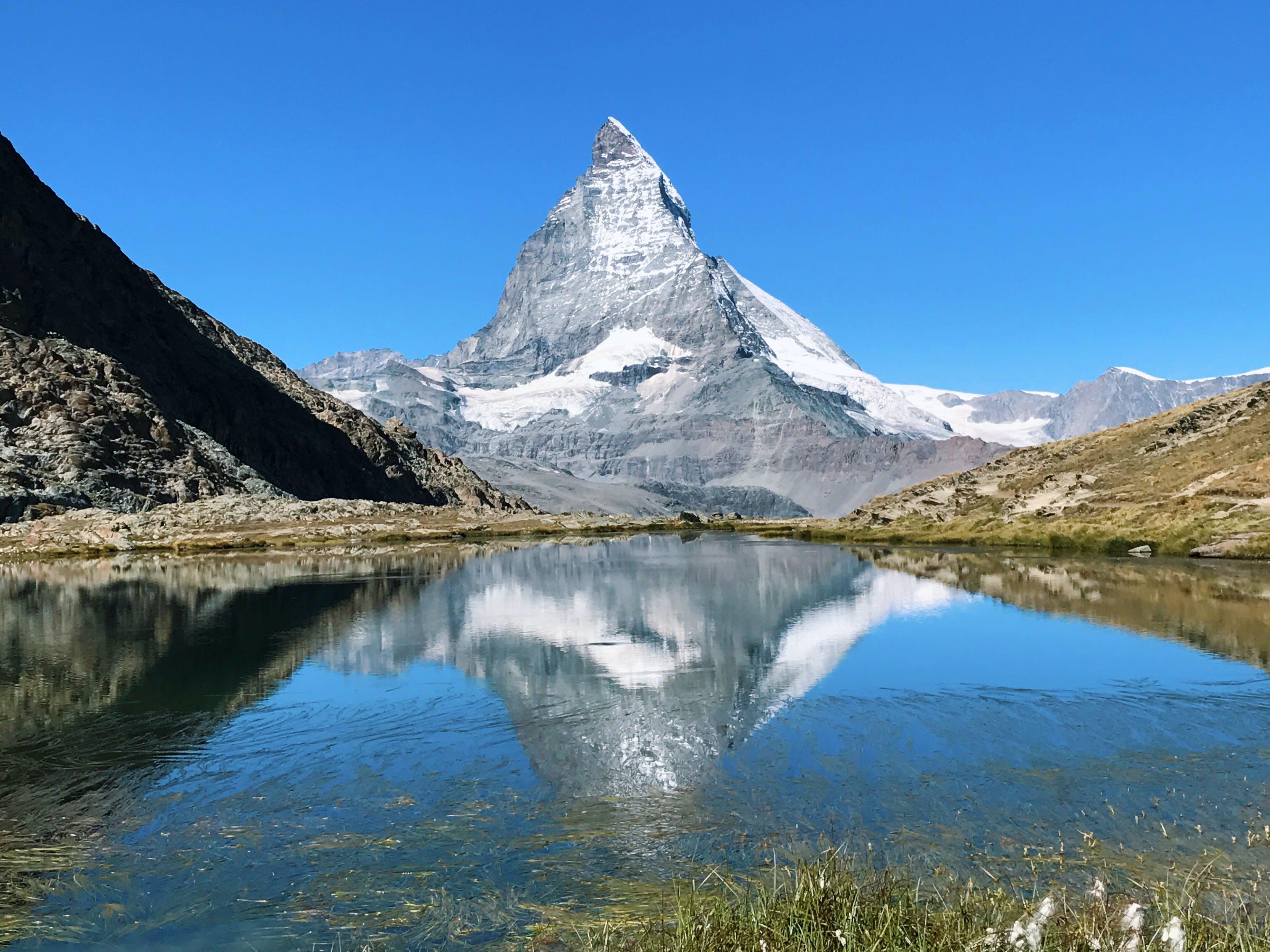 Body of Water Near White Mountain