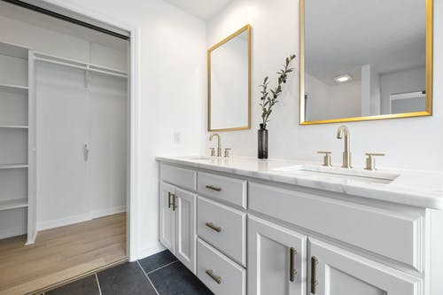 Bathroom Sink and Wall Mirrors