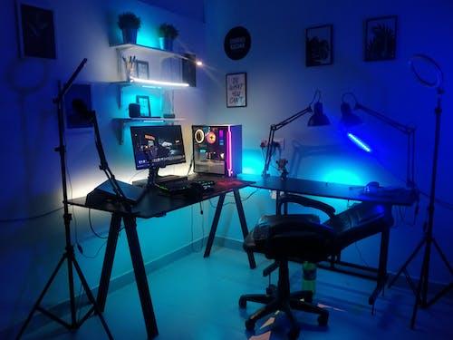 Free stock photo of best gaming setup, gaming room, rgb