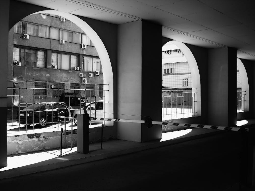 Free stock photo of architecture, black, black and white
