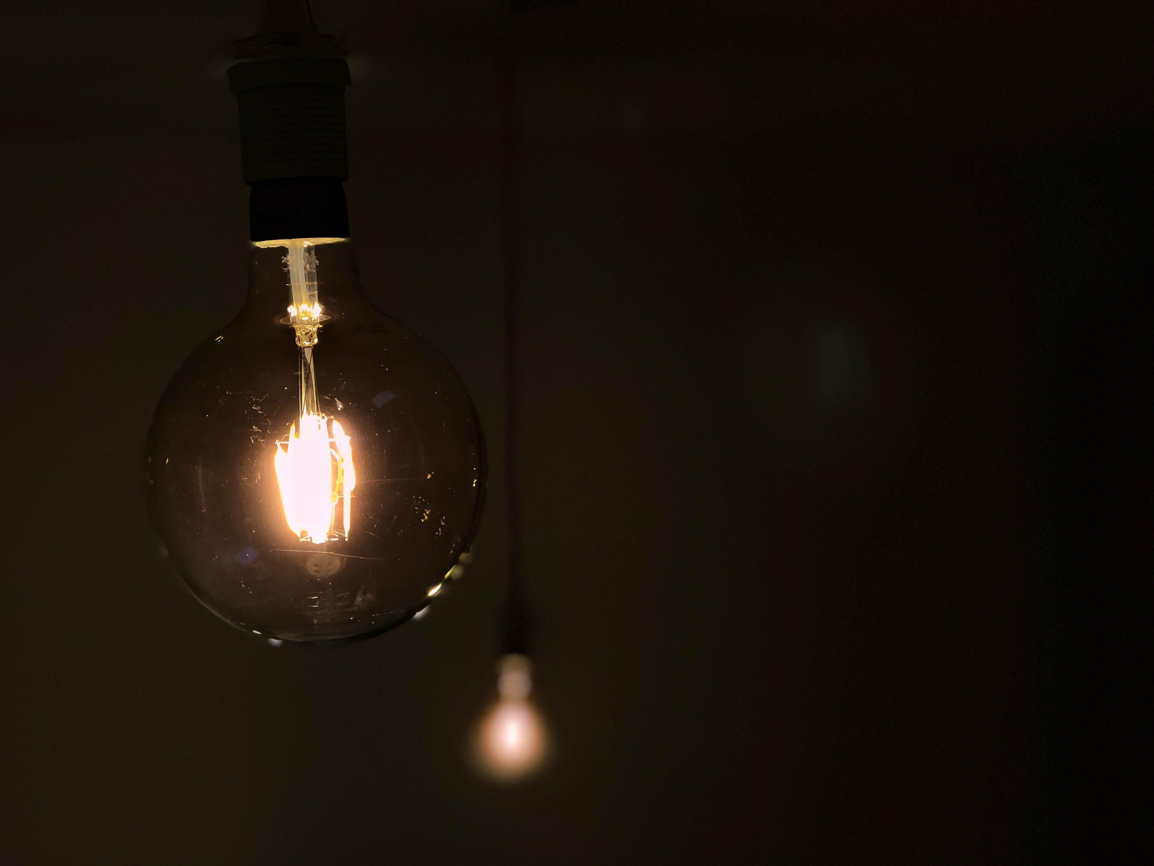 Free stock photo of light, dark, light bulb, rustic