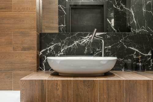Modern bathroom interior with sink