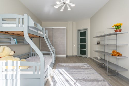 Modern bedroom with bunk bed