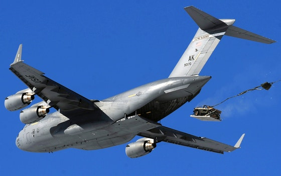Gray Jetplane on Blue Sky