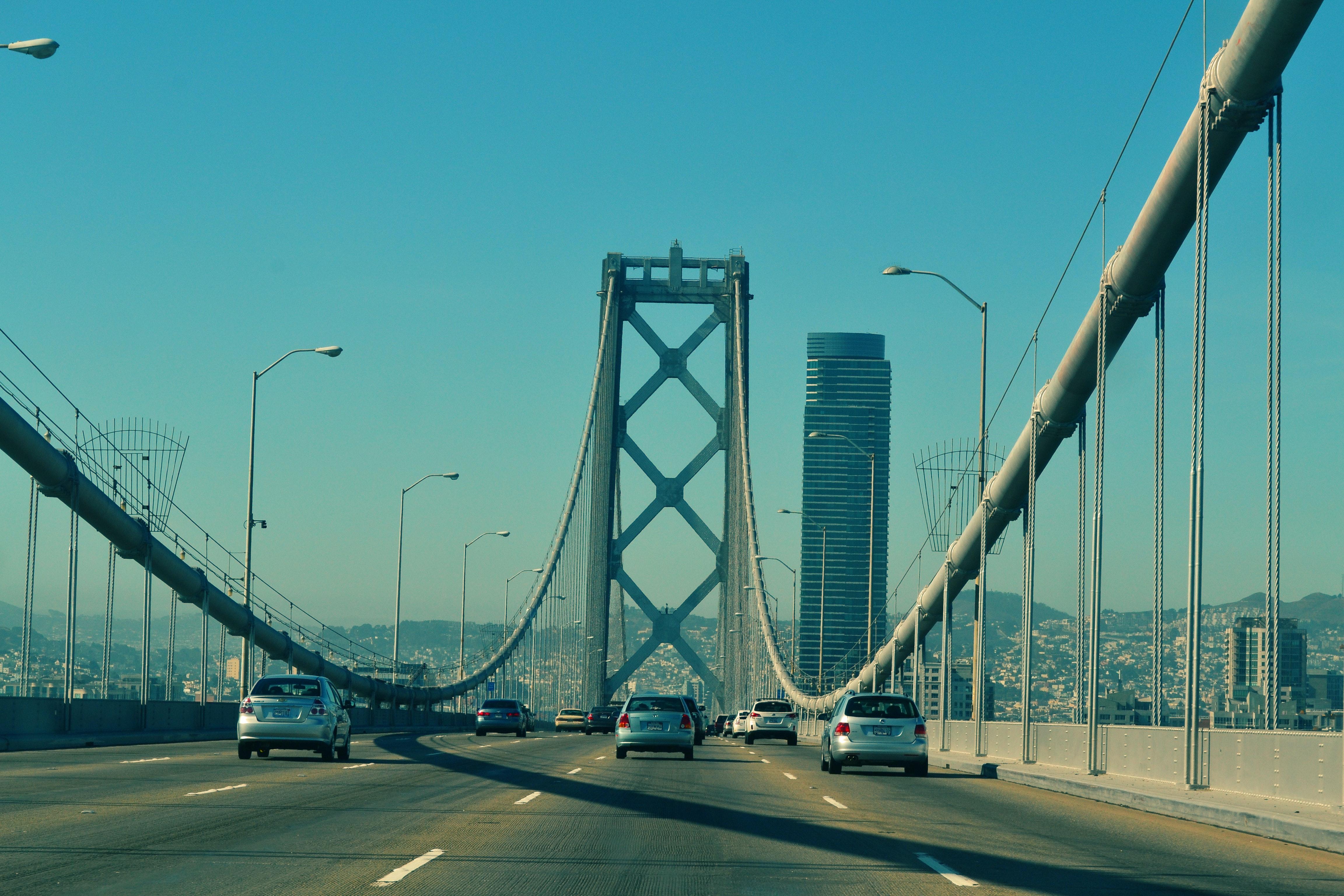 Free stock photo of bridge, cars, driving
