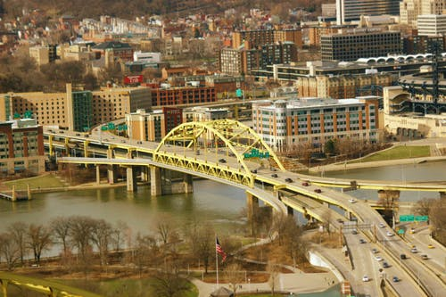 Free stock photo of 3Rivers, bridge, cars