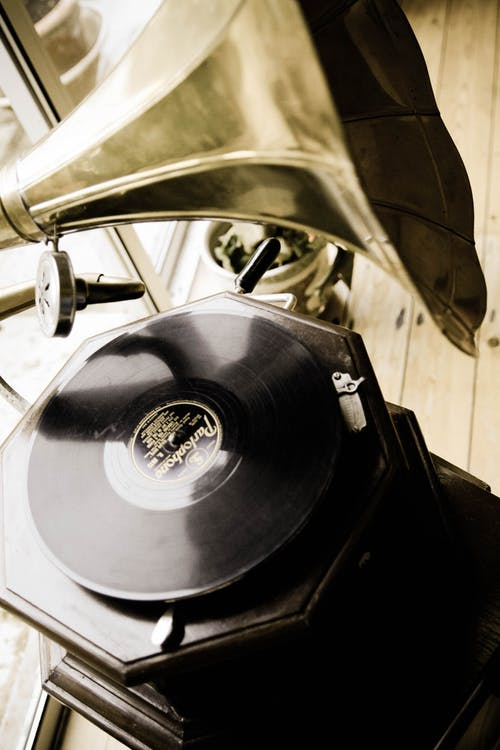 Free stock photo of antique record player, record player
