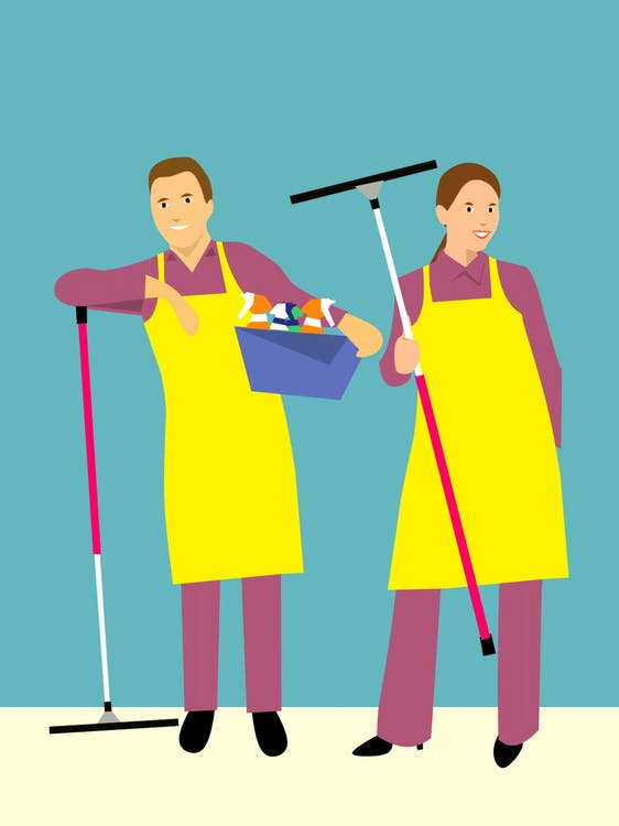 Free stock photo of cartoon character, clean up, cleaning service
