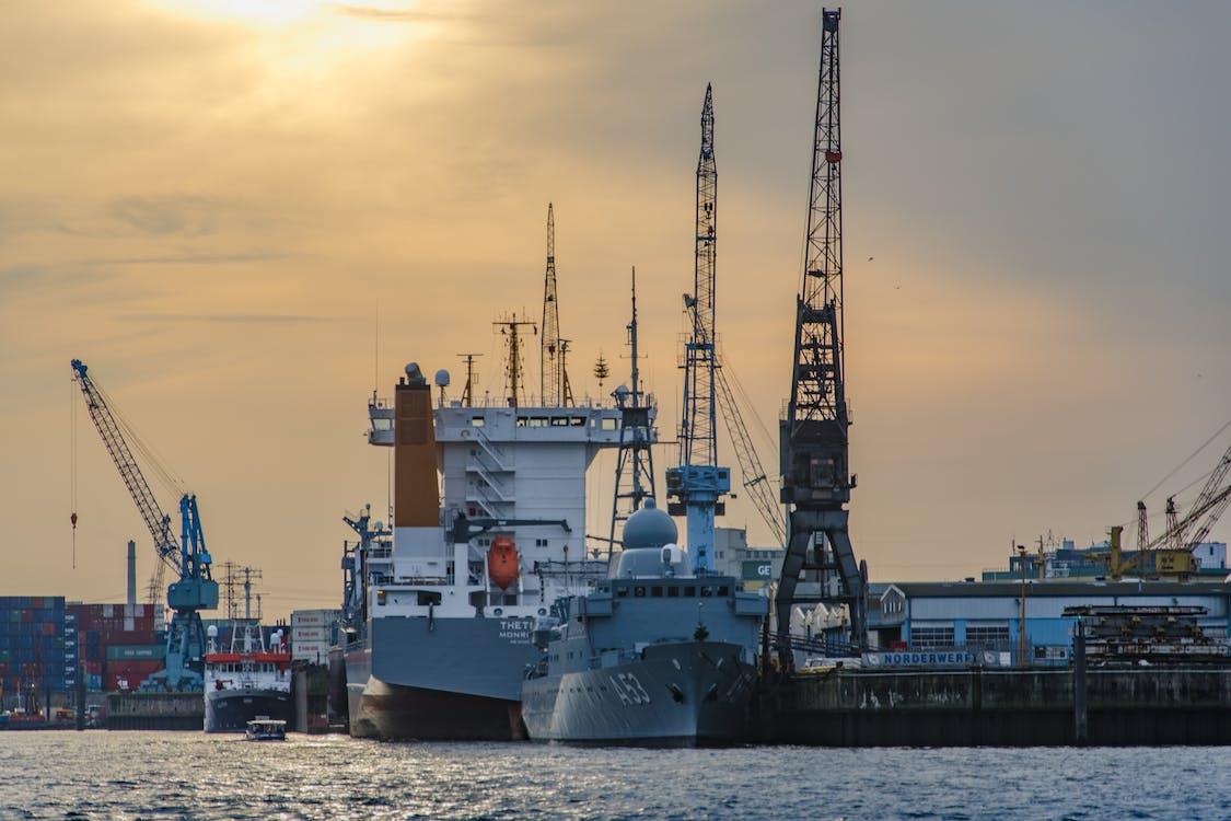 Shipping Boat Near Dock