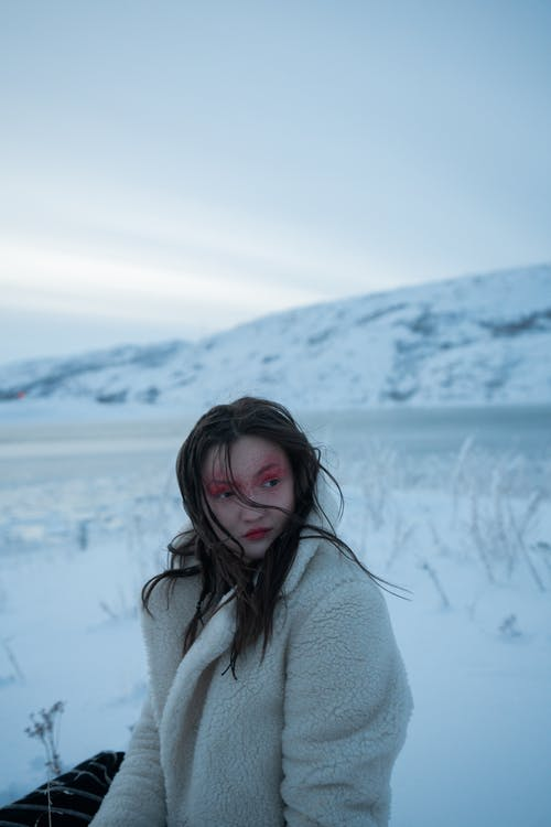 คลังภาพถ่ายฟรี ของ กลางแจ้ง, การแช่แข็ง, ผู้หญิง