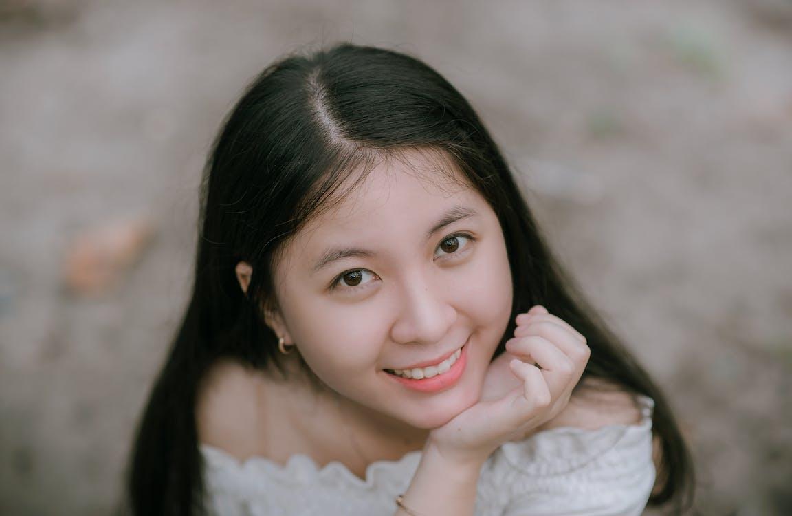arckifejezés, ázsiai nő, divat