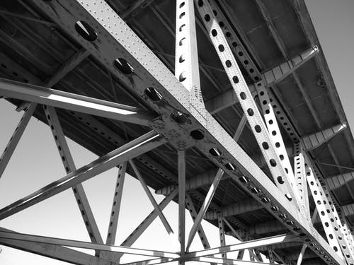 在桥下, 金屬框架, 鋼 的 免费素材图片